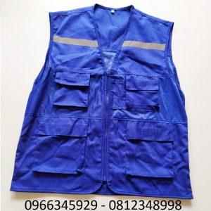 áo ghi lê phản quang màu xanh lam