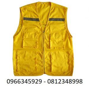 áo ghi lê phản quang màu vàng