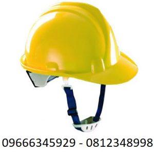 mũ bảo hộ màu vàng
