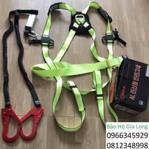 dây đai an toàn toàn thân 2 móc nhôm