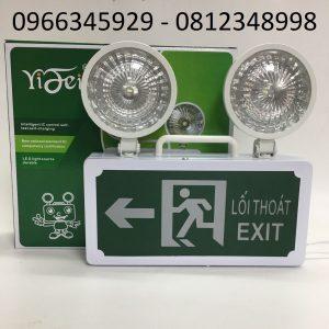 đèn cảnh báo sự cố kết hợp đèn exit chỉ dẫn lối thoát bên trái