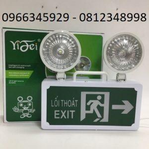 đèn cảnh báo sự cố kết hợp đèn exit chỉ dẫn thoát hiểm bên phải
