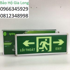 đèn exit chỉ dẫn thoát hiểm hai bên