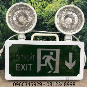 đèn sự cố kết hợp đèn exit