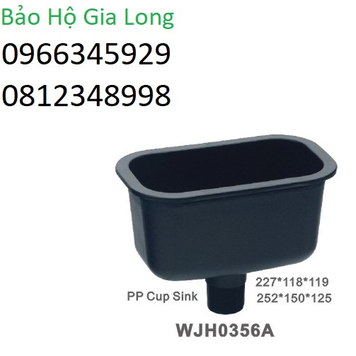 chậu rửa chống hóa chất phòng thí nghiệm wjh0356a