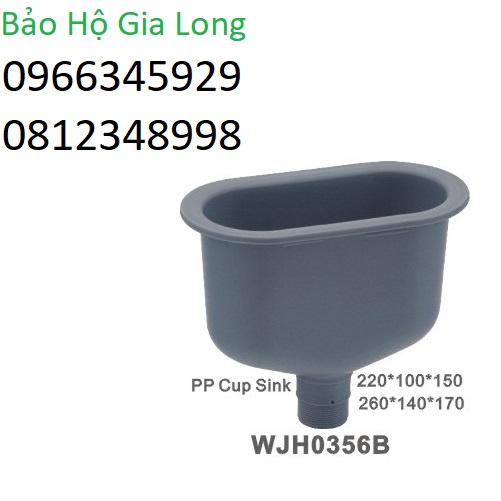 chậu rửa chống hóa chất phòng thí nghiệm wjh0356b